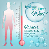 Temperatura del cuerpo Foto de archivo