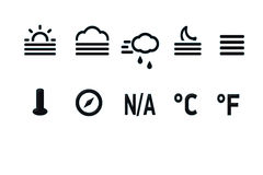 Temperatura del icono foto de archivo