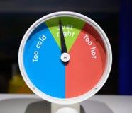 Temperatura direita Imagens de Stock