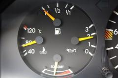 Temperatura do motor, pressão de óleo, preaquecedor Fotografia de Stock