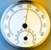 Temperatura i wilgotność metr fotografia stock