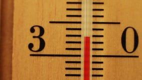 Temperatura na termometrów ruchach zdjęcie wideo