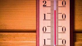 Temperatura wzrasta na termometrze zdjęcie wideo