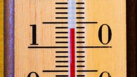 Temperatura wzrasta na termometrze Timelapse zdjęcie wideo