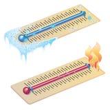 Temperaturas extremas Fotos de archivo libres de regalías