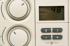 Temperature control dial for central heating at home Royalty Free Stock Images