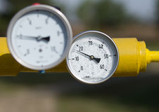 Temperature control on pipe Stock Images