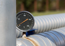 Temperature control on pipe Royalty Free Stock Photos