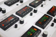 Temperature controller mounted on line Stock Image