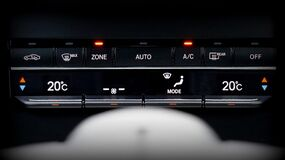 Temperature controls in automobile Stock Images