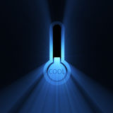 Temperature cool chilly sign flare Stock Photos