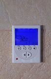 Temperature on a digital thermostat Stock Photography
