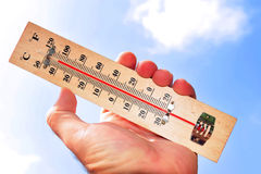 Temperature elevate dell'onda termica fotografie stock