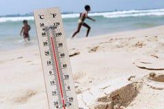 Temperature elevate dell'onda termica Fotografia Stock