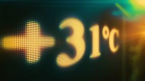 Temperature estremamente calde nei gradi centigradi, riscaldamento globale della terra di calore di estate archivi video