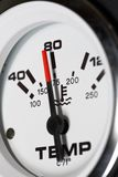 Temperature gauge. Of a diesel engine Stock Photos