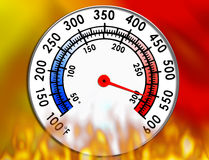 Temperature Gauge Royalty Free Stock Photos