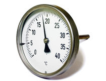 Temperature gauge. Isolate on white Royalty Free Stock Photography