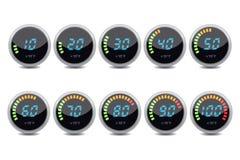 Temperature gauge digital set  Royalty Free Stock Photography