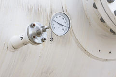 Temperature gauge, measuring instrument Stock Photo