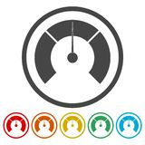 Temperature gauge,Pressure gauge, manometer icons set. Vector icon royalty free illustration