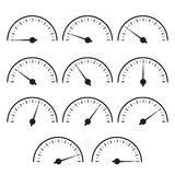 Temperature gauge set used in cooking grill Royalty Free Stock Photos