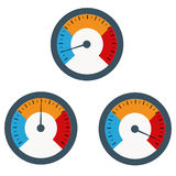 Temperature gauge used in cooking grill with the equipment Royalty Free Stock Photo