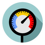 Temperature gauge Stock Photo