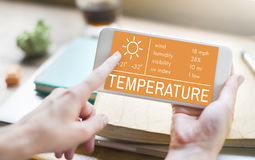 Temperature Heat Hot Weather Climate Concept Royalty Free Stock Image