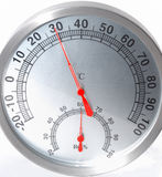 Temperature & humidity meter. It is a temperature and humidity meter Royalty Free Stock Photography