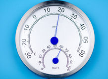 Temperature and humidity meter. Royalty Free Stock Photography