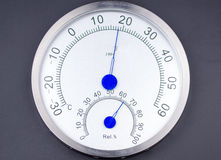 Temperature and humidity meter. Royalty Free Stock Image