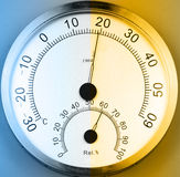 Temperature and humidity meter. Stock Photography