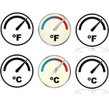 Temperature indicator Royalty Free Stock Photo