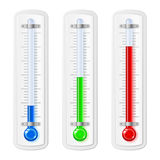 Temperature indicators Royalty Free Stock Photo