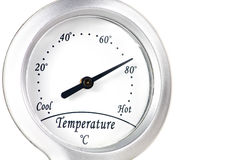 Temperature instrument indicator Royalty Free Stock Images
