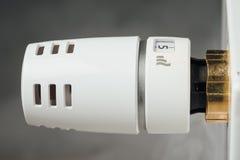 Temperature knob of heating radiator Royalty Free Stock Photos