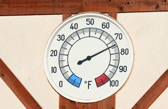 Temperature meter Stock Images