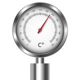 Temperature meter gauge Stock Photo