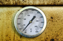 Temperature meter of oven Stock Image