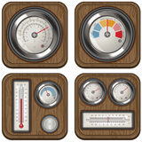 Temperature meters Stock Photo
