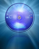 Temperature reading Royalty Free Stock Photography