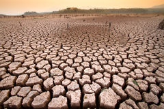 Temperature rise impact to water dry Royalty Free Stock Photo