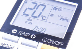 Temperature screen Stock Image