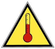 Temperature sign Stock Image