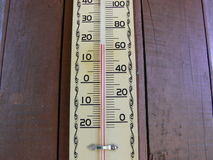 Temperature. Termometer show 17 celsius degree Stock Images
