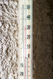The temperature on the thermometer 30 Royalty Free Stock Photos