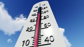 The Temperature On The Thermometer stock footage