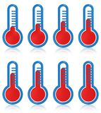 Temperature thermometers royalty free stock image