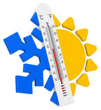 The temperatures Royalty Free Stock Photo